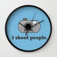 humor Wall Clocks featuring Photography Humor by Murphis the Scurpix