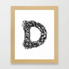 The Illustrated D Framed Art Print