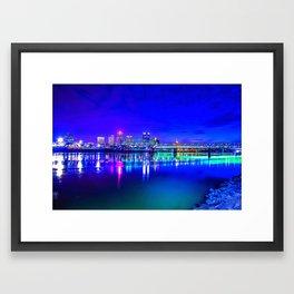 Little Rock Skyline Framed Art Print