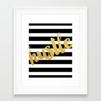 hustle Framed Art Prints featuring Hustle by BySamantha | Samantha Ranlet