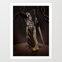 silent hill Art Prints featuring Pyramid Head - Silent Hill by JonnyHinkleArt