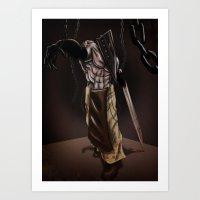 silent hill Art Prints featuring Pyramid Head - Silent Hill by JonnyHinkleArt