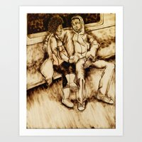 talking heads Art Prints featuring Talking by Red, the artist