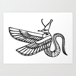 dragon - demon of ancient Egypt Art Print