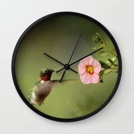 Tiny Hummer Wall Clock