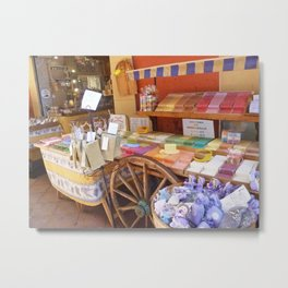 Colorful French Soaps in Old Town Nice Metal Print