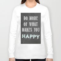calendars Long Sleeve T-shirts featuring Quote, inspiration chalk board  by Shabby Studios Design & Illustrations ..