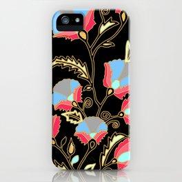 Suzani inspired on black iPhone Case