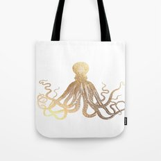 Gold Octopus  Tote Bag