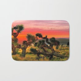 Sunset at Joshua Tree National Park, California, USA Bath Mat