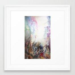 Fall like Rain Framed Art Print