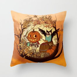 Fall Folklore Throw Pillow
