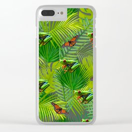 Frogs and Monarchs Clear iPhone Case