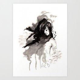 Miseria de los miserables (sketch version) Art Print