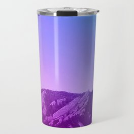 Boulder Colorado Flatirons Decor \\ Chautauqua Park Purple Pink Blue Green Nature Bohemian Style Art Travel Mug