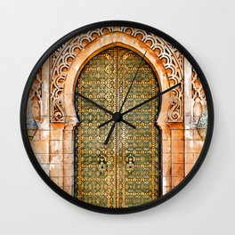 Door Hassan Tower Morocco - For Doors & Travel Lovers Wall Clock