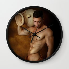 male nude art 3 Wall Clock