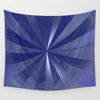 submarine Wall Tapestries featuring Blue Submarine by MyndVu