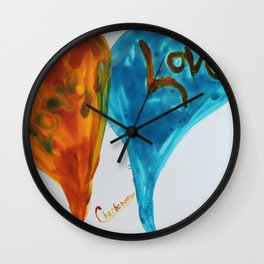 Love duo   Duo d'amour Wall Clock
