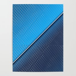 Abstract blue metallic gradient texture Poster