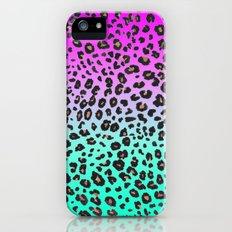 TEAL & PINK LEOPARD  Slim Case iPhone (5, 5s)