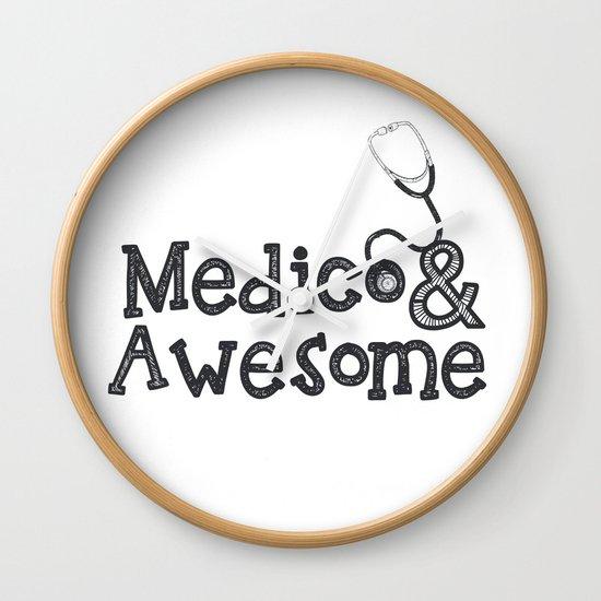 Medico & Awesome Wall Clock