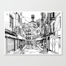 Concrete Jungle (BW) Canvas Print
