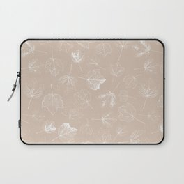 Autumn leaf seamless pattern design beige and brown Laptop Sleeve