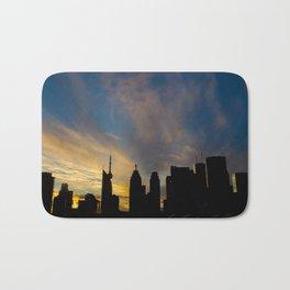 Skyline Silhouette Moody Wispy Clouds Bath Mat