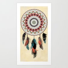 Mandala Dream Catcher Art Print