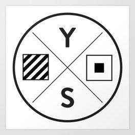 YS Logo - Black Outline Art Print