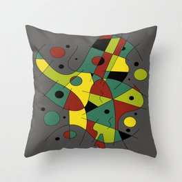 Abstract #226 The Cellist #2 Throw Pillow