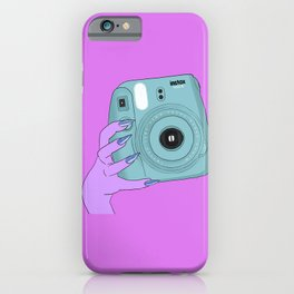 Blue camera hand iPhone Case