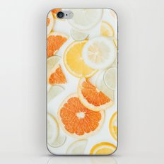 citrus fresh orange twist iPhone Skin