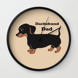Dachshund Dad Wall Clock
