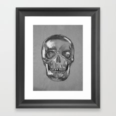 grungy skull Framed Art Print