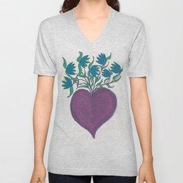Magic Purple Heart Unisex V-Neck