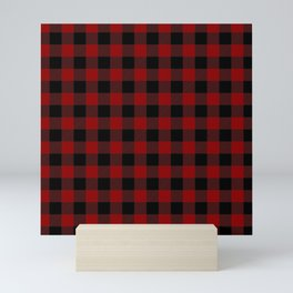 Red and Black Plaid Mini Art Print