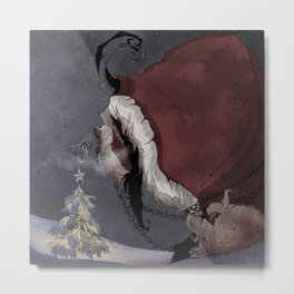 Krampus Christmas Metal Print