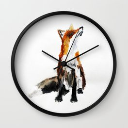 Woodland Fox (reverse edit) Wall Clock