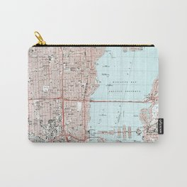 Miami Florida Map (1988) Carry-All Pouch
