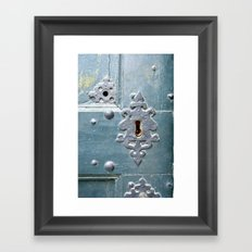 Old lock Framed Art Print
