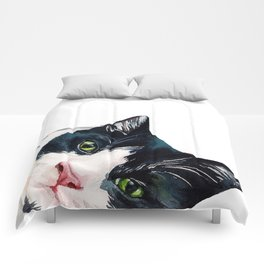 Cat watching at you Comforters