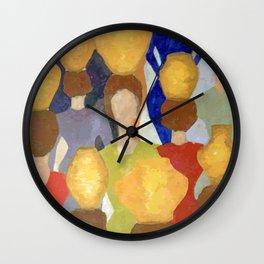 Women and pots (Mulheres e potes) Wall Clock