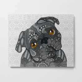 Black Pug 2016 Metal Print