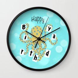 Octopus Birthday Wall Clock