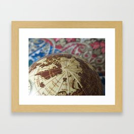 Cartographic Imperfections Framed Art Print