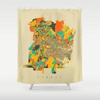 sydney Shower Curtains featuring Sydney by Nicksman