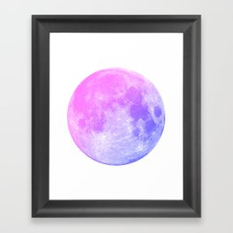 Neon Moon Framed Art Print