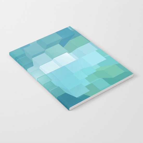 Blue and Green 3D Notebook
